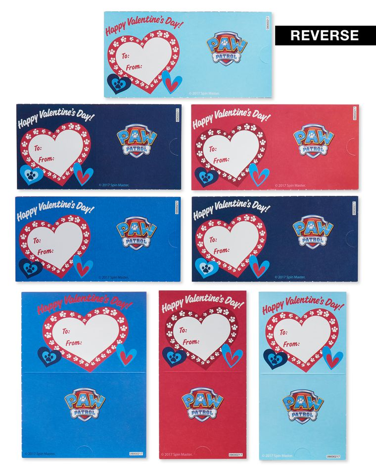 Nickelodeon Paw Patrol Blue Valentine's Day Exchange Cards, 32-Count