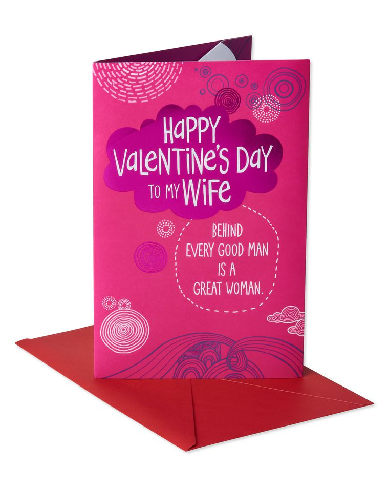 Funny Great Woman Valentine's Day Card for Wife