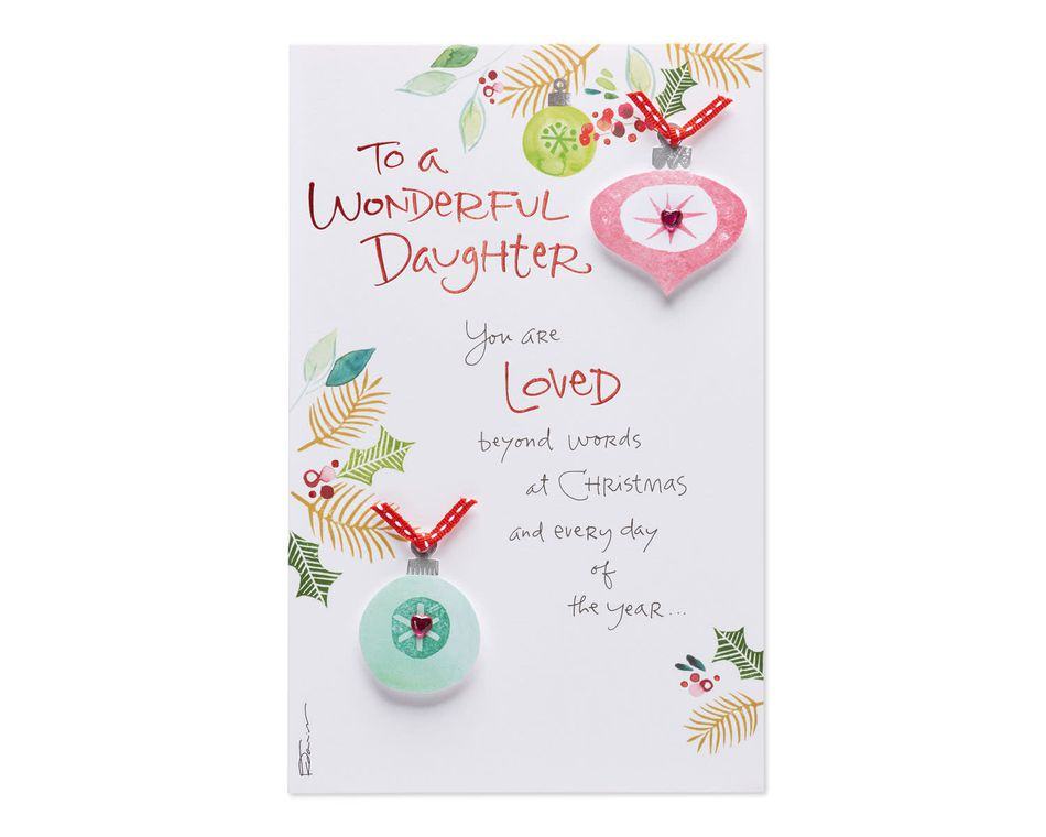 Loved Christmas Card for Daughter