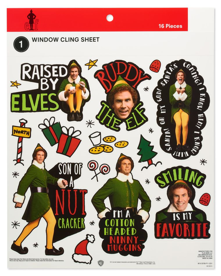 Elf Window Decorations, 16-Count