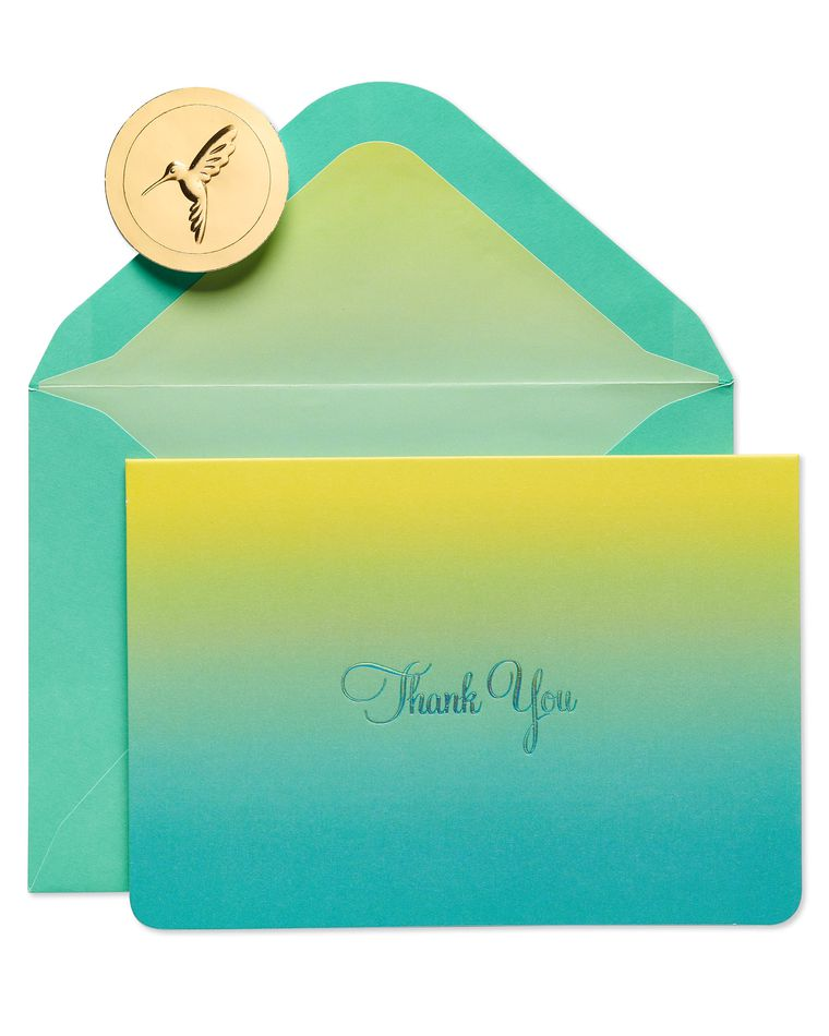 Teal Ombre Boxed Thank You Cards and Envelopes, 16-Count