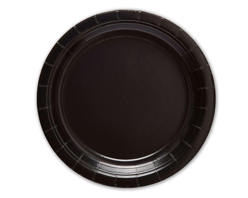 Black Dessert Paper Plate, 20 Count