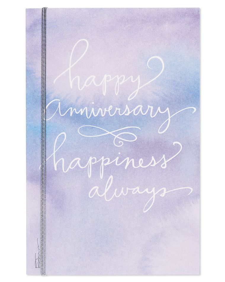 Kathy Davis Watercolor Anniversary Card