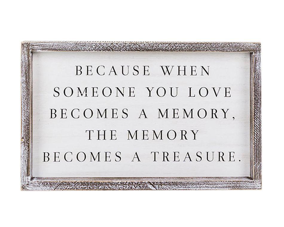 Memory Becomes a Treasure' Wall Sign