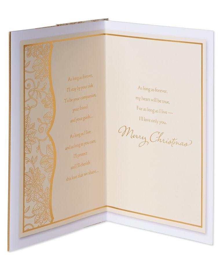 Christmas Promise Christmas Card for Wife
