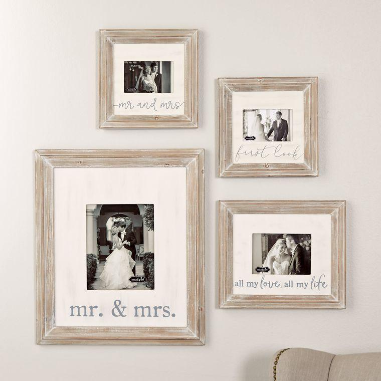 Mud Pie Mr. & Mrs. Small Wood Frame