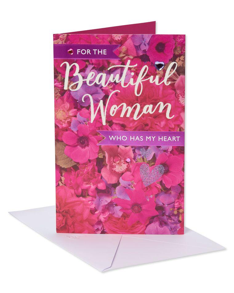 Beautiful Woman Valentine's Day Card