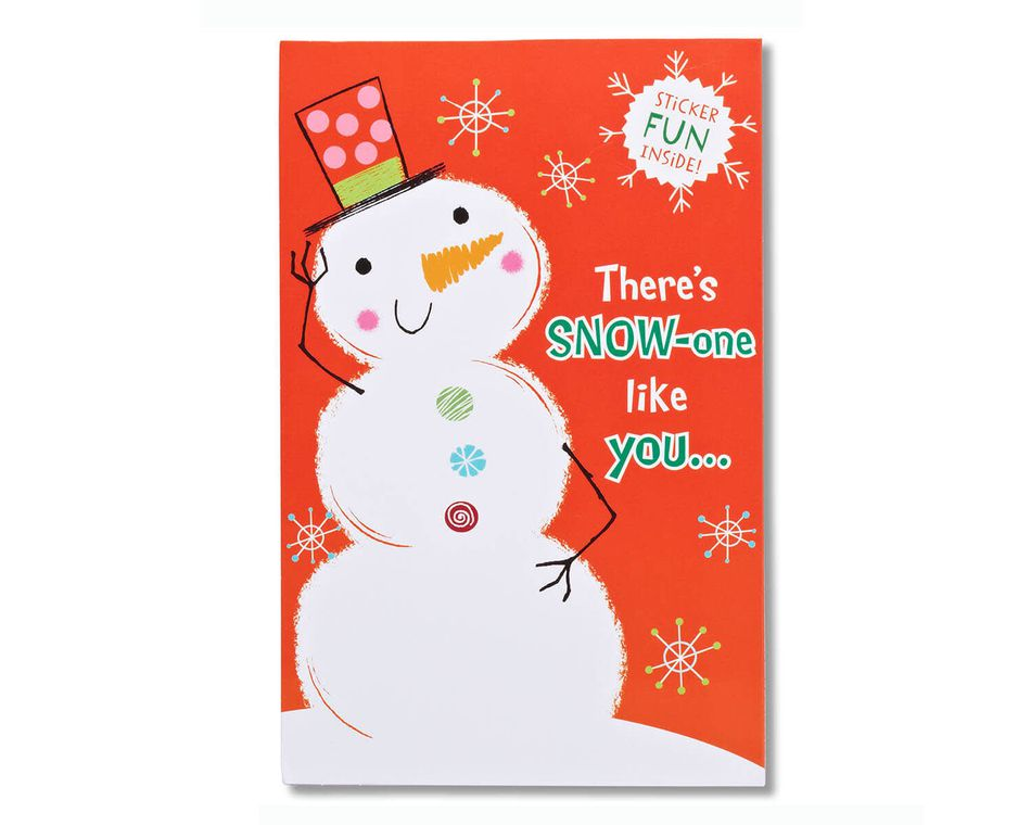 Snowman Christmas Card with Stickers