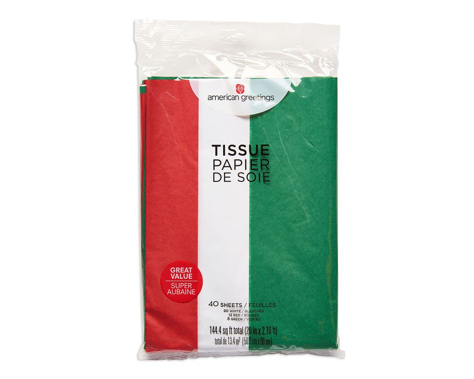 christmas colored value tissue paper 40 sheets