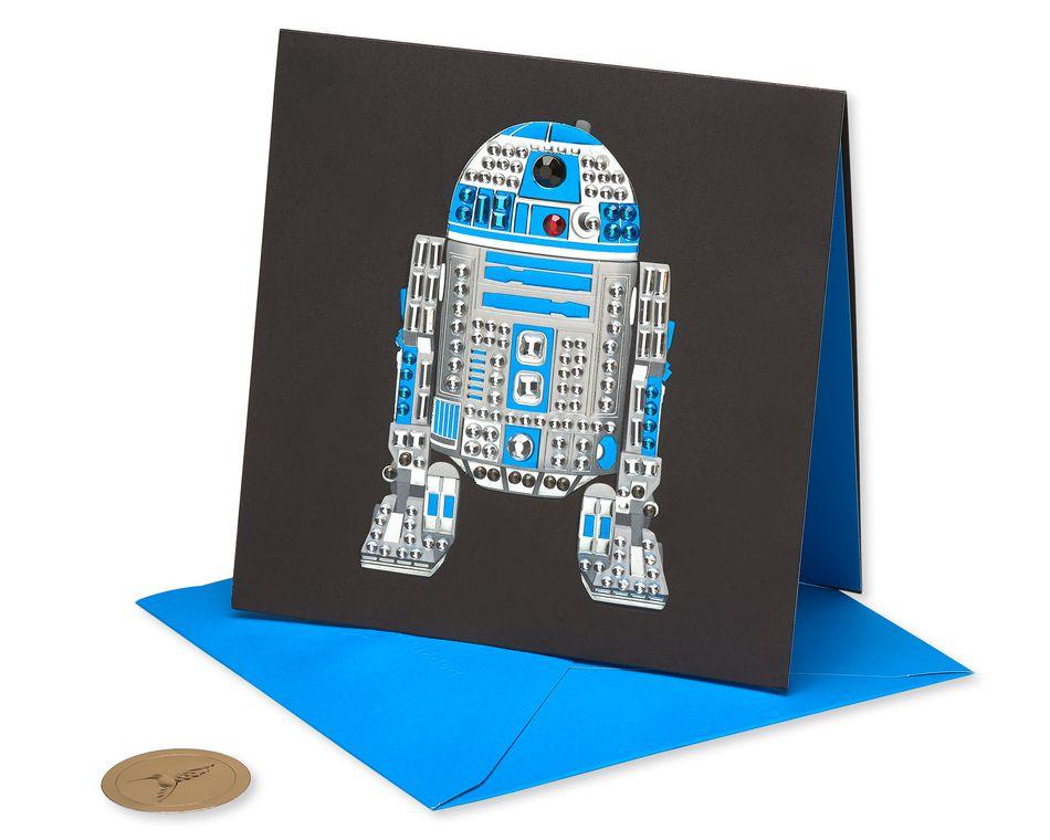 Star Wars Gem R2D2 Birthday Greeting Card