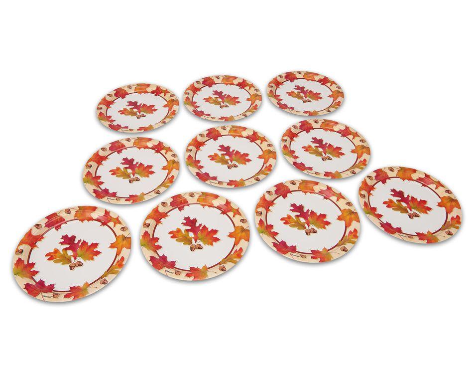 Autumn Days Dinner Plates, 10 Count