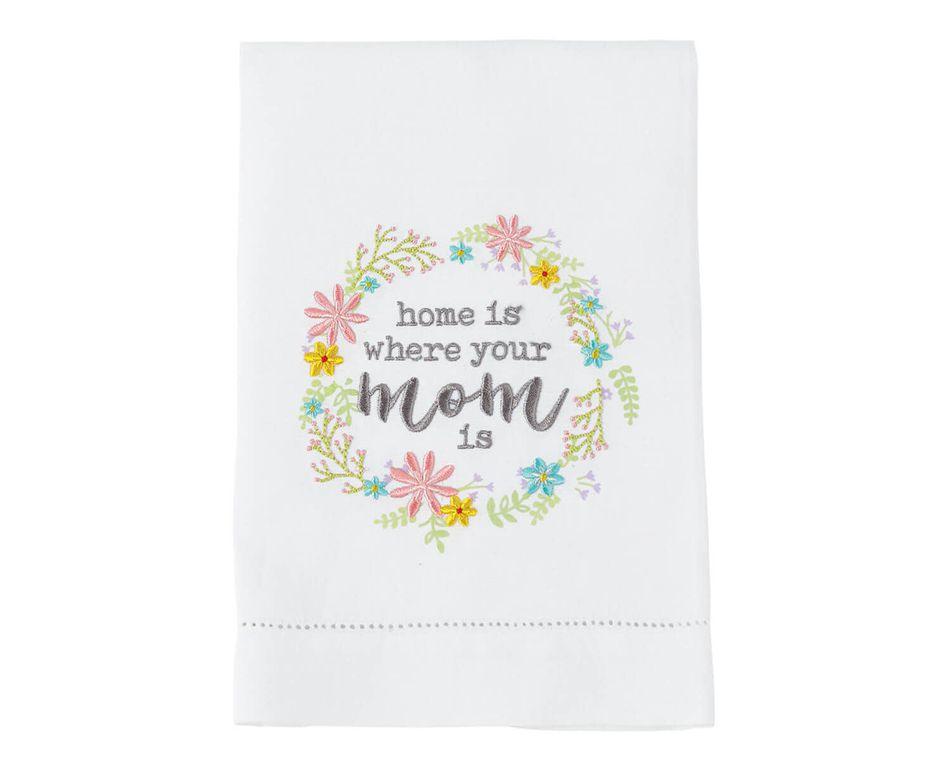 Mud Pie Flower Wreathe Mom Towel