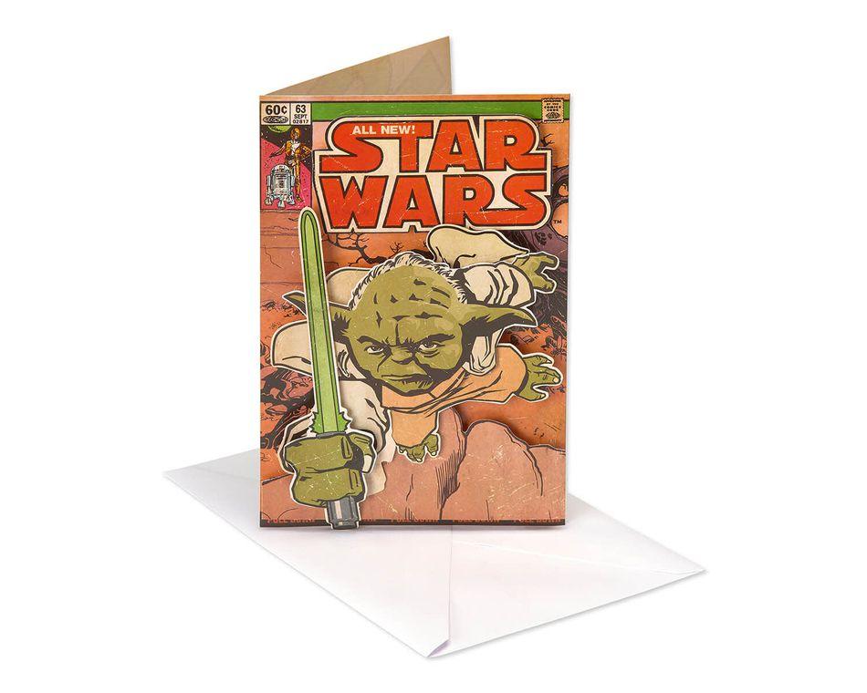 Star Wars Yoda Father's Day Card