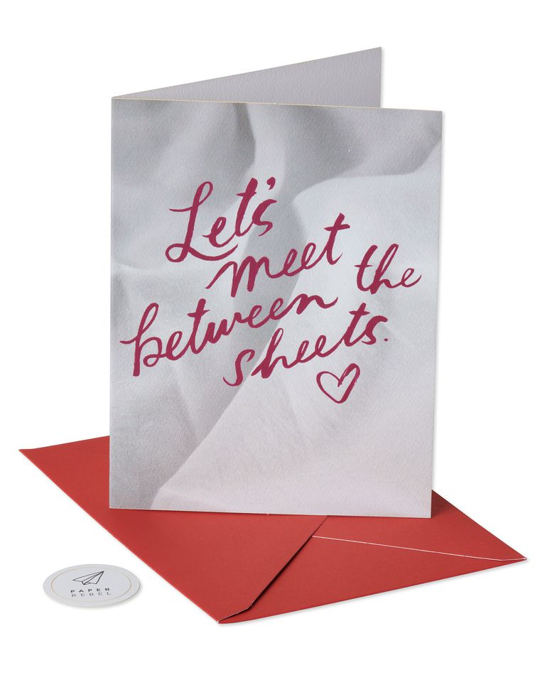 between sheets valentine's day card