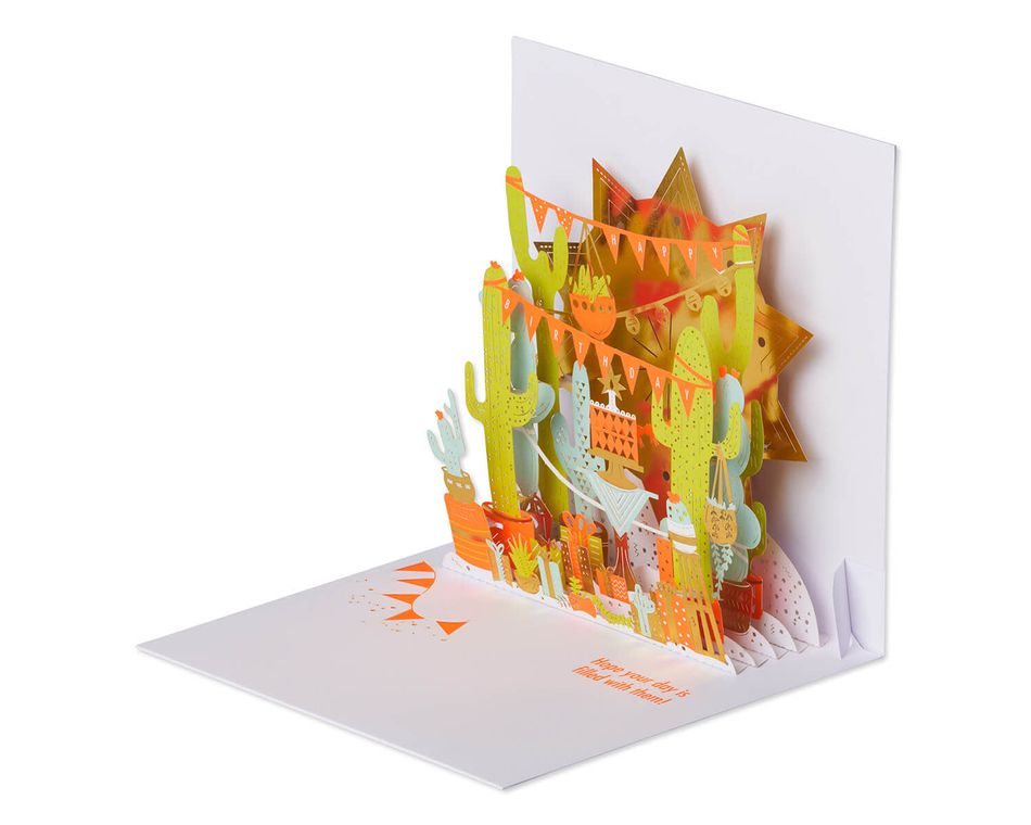 Good Vibes Pop-Up Birthday Card