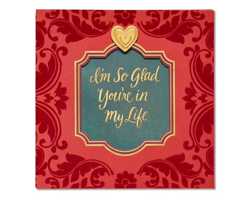 glad valentine's day card