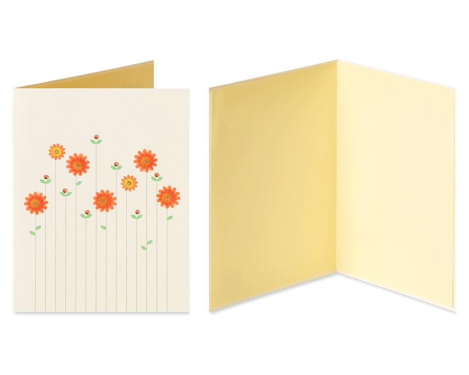 Flowers Blank Greeting Card Bundle, 2-Count