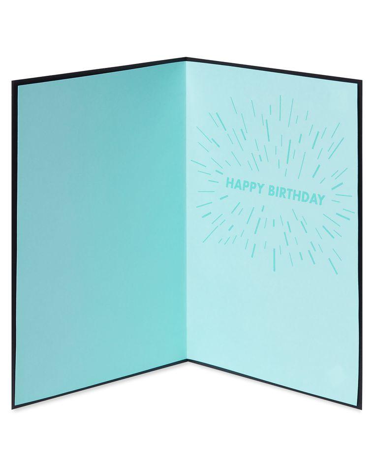 Peacock Birthday Greeting Card