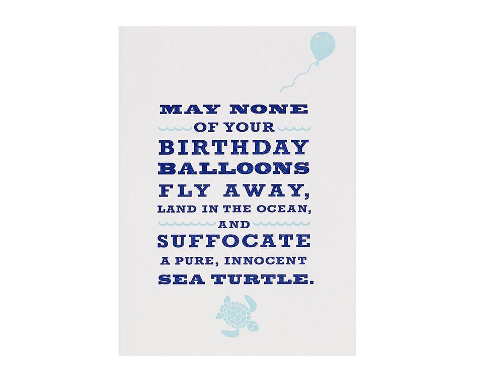 Sea Turtle Birthday Card