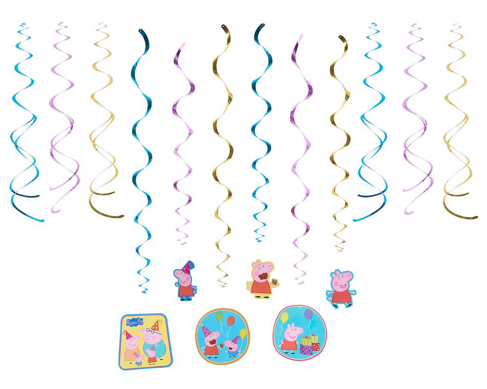 Peppa Pig Hanging Party Decorations