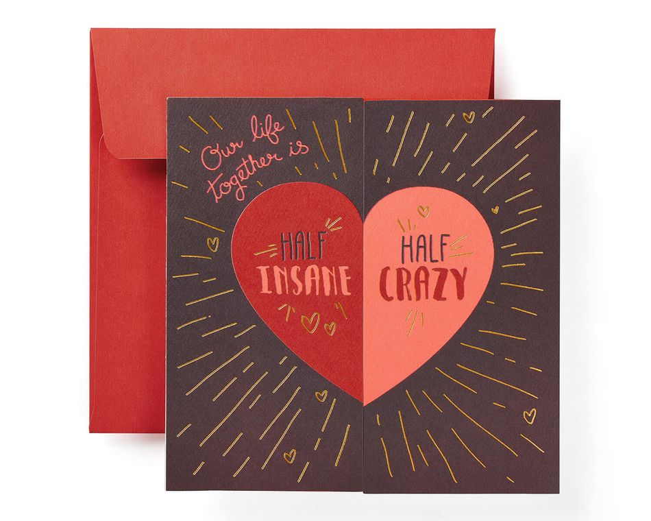Insane and Crazy Valentine's Day Card for Husband