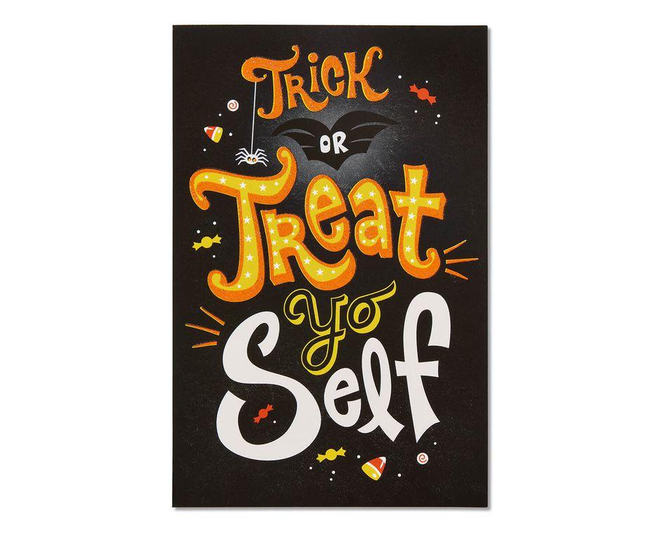 Treat Yo Self Halloween Card, 6-Count