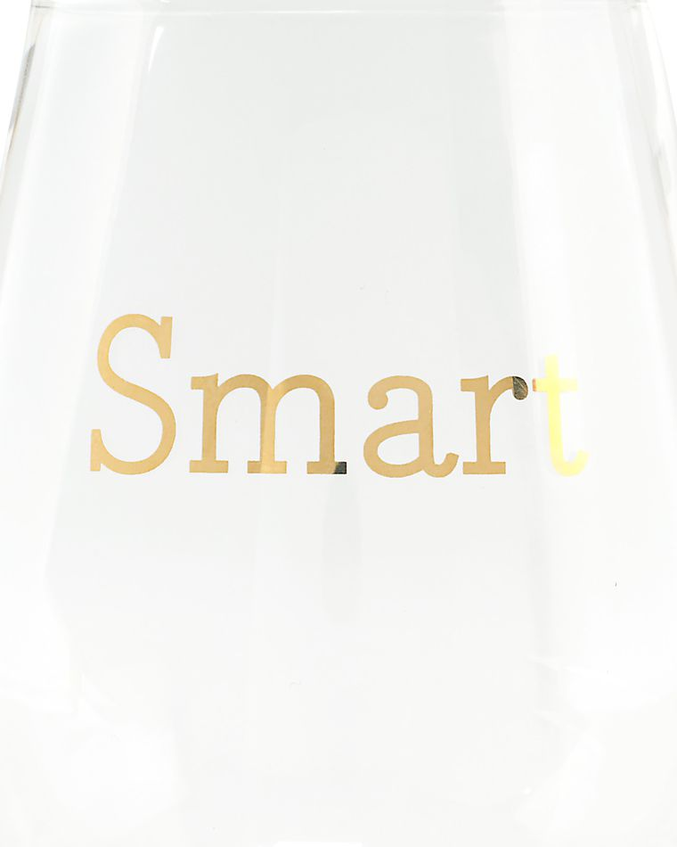 smart & pretty wine glasses (set of 2)
