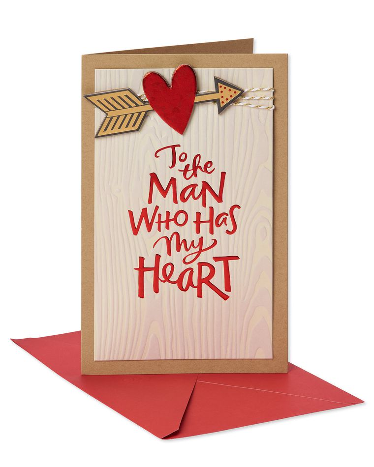 Man Who Has My Heart Valentine's Day Card