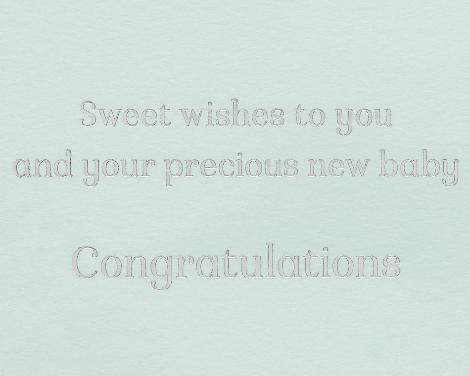 Baby Bottle New Baby Greeting Card