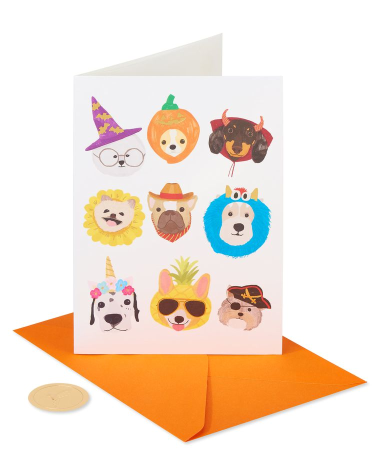 Spooky Dogs Halloween Greeting Card