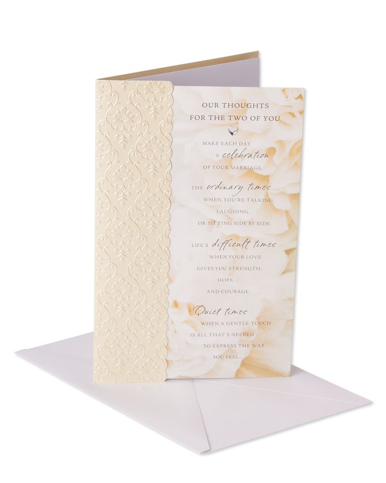 Our Thoughts Wedding Card