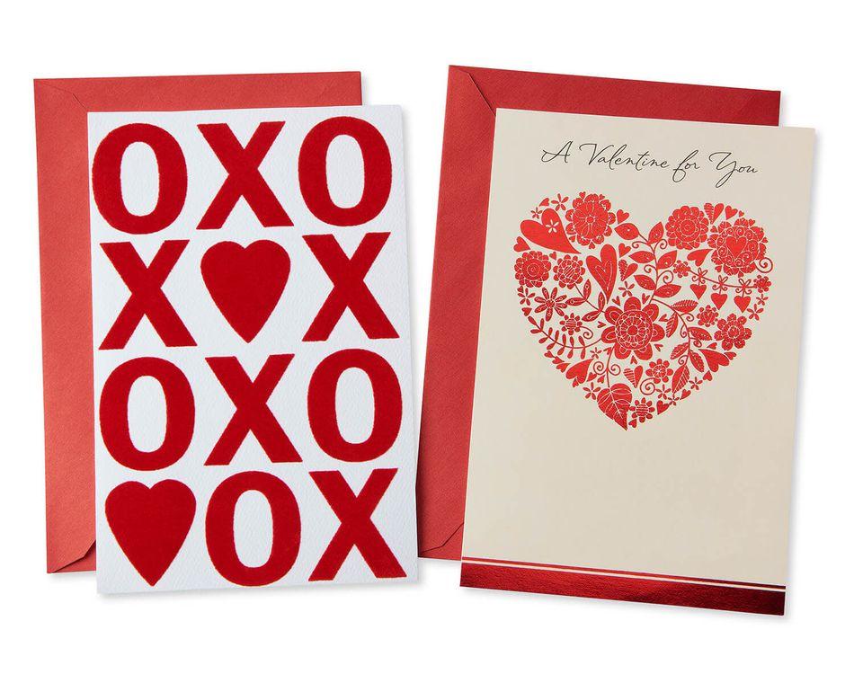 Red Valentine's Day Card Bundle, 2-Count