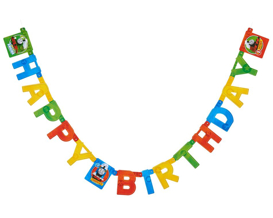 Thomas Hinge Birthday Party Banner