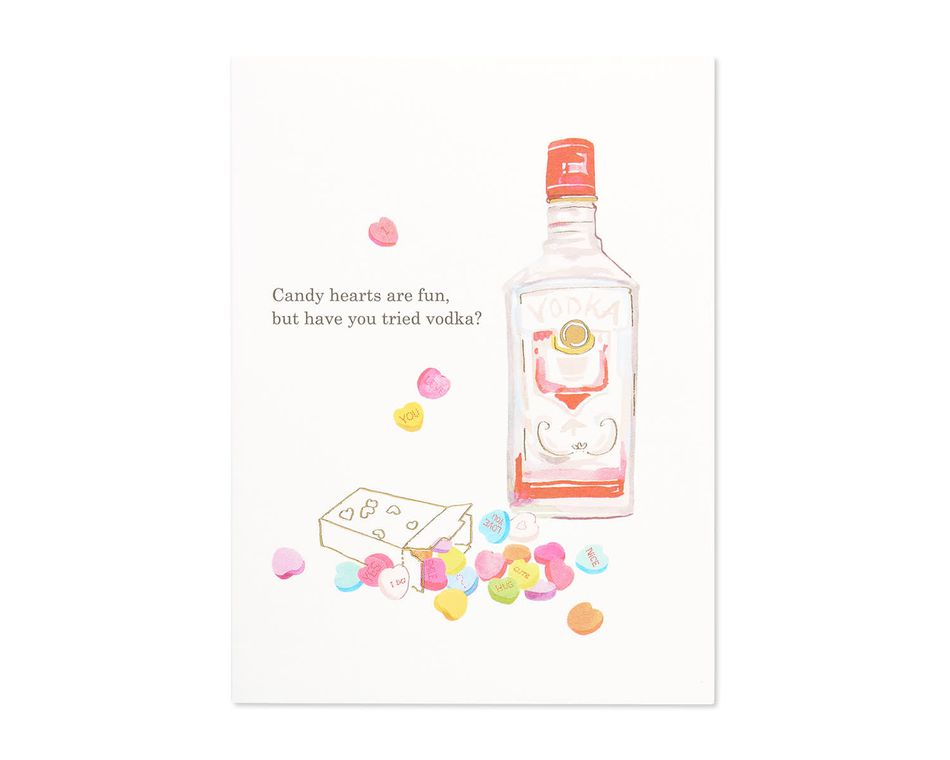 have you tried vodka valentine's day card