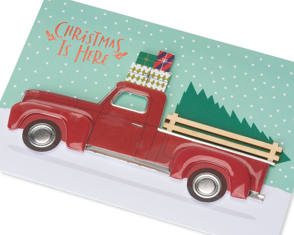 Premier Red Truck Christmas Card