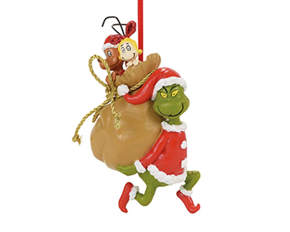 The Grinch Santa Ornament
