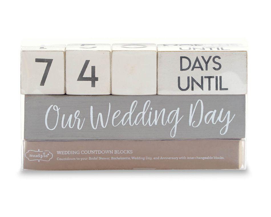 Mud Pie Wedding Countdown Blocks