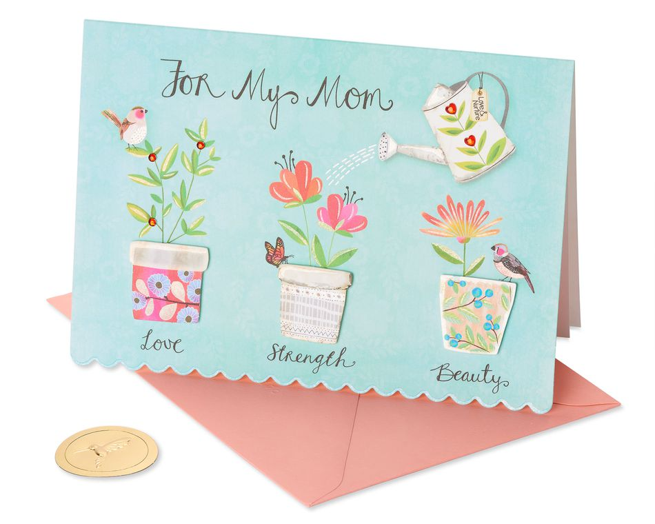 Helped Me Grow Mother's Day Card