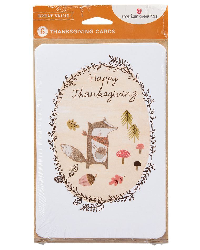 Raccoon Thanksgiving Card, 6-Count