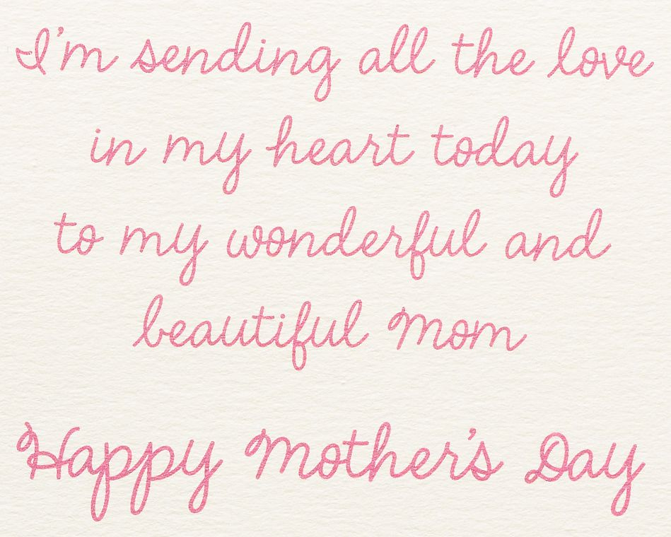 Flower Cascade Mother's Day Card