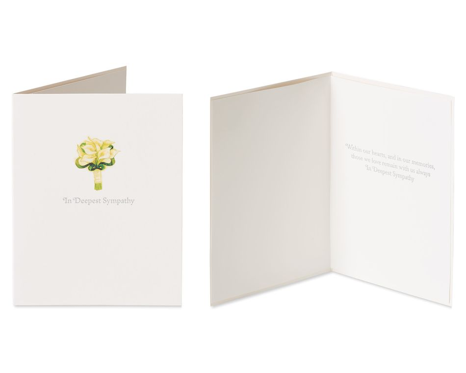 Floral Sympathy Greeting Card Bundle, 2-Count