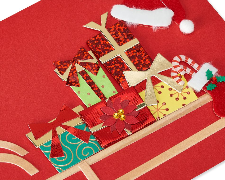Sleigh with Presents Christmas Greeting Card