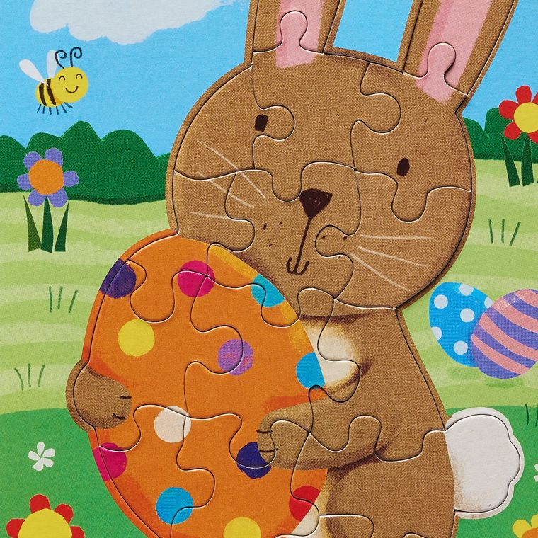 Easter Bunny Puzzle Easter Greeting Card