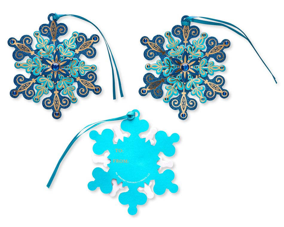 Layered Snowflakes Holiday Tags