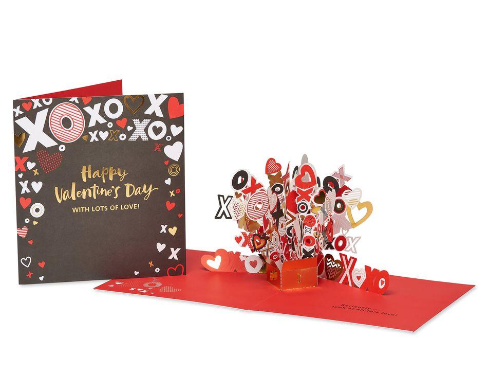 XOXO Pop-Up Valentine's Day Card