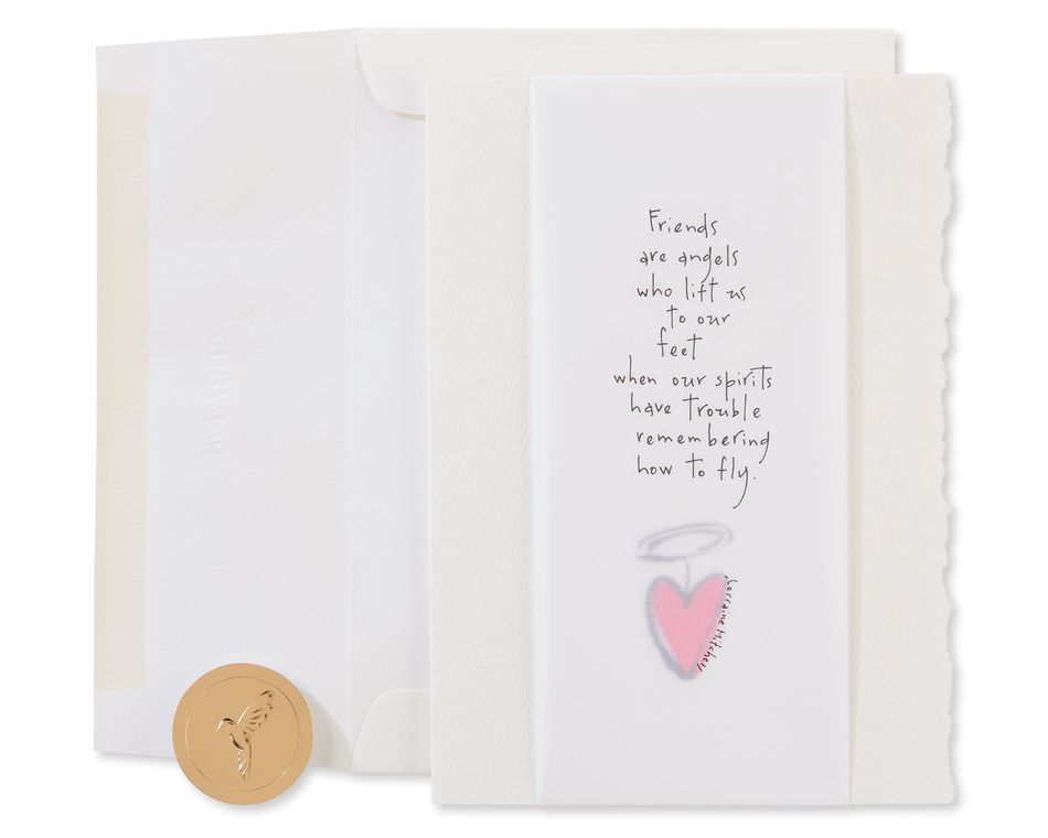 Friends Are Angels Religious Friendship Greeting Card