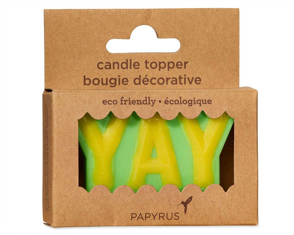 YAY Birthday Candle, 1-Count