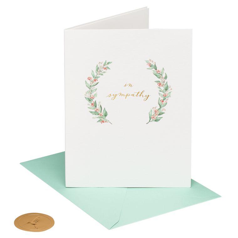 Elegant Greenery Sympathy Greeting Card