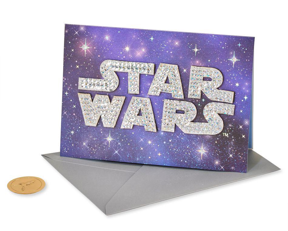 Star Wars Logo Birthday Greeting Card