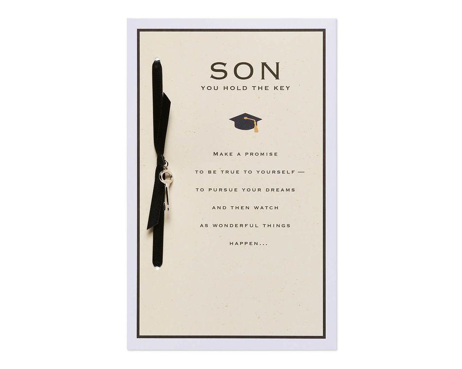 Key Graduation Card for Son